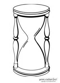 hourglass coloring print color fun
