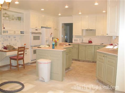 how to paint mobile home cabinets the thrifty home kitchen remodel painting cabinets
