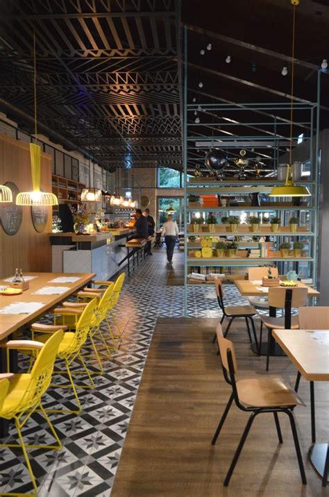 denk fabrik  cafe interior design restaurant flooring