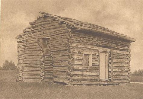 Abraham Lincolns Cabin by Abraham Lincoln Log Cabin Kentucky Antique Print Ebay