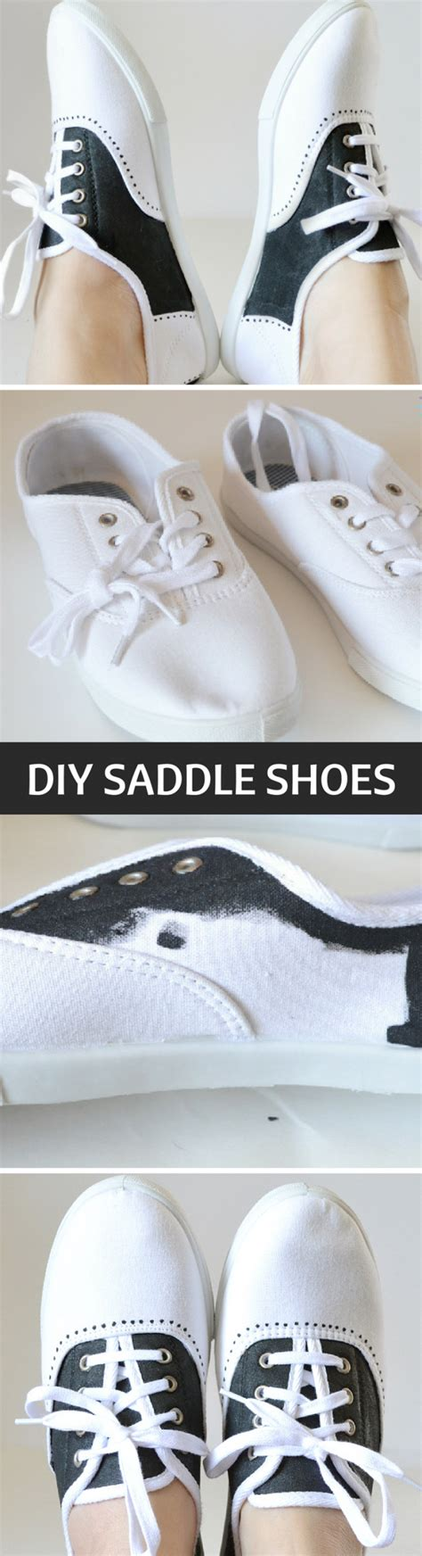 saddle shoes diy painted faux saddleshoes tutorial at spark