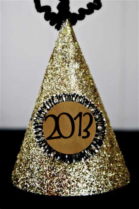 how to make new year hats new year s glitter hats think crafts by