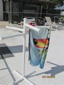 pvc pool side towel rack sweet summer time