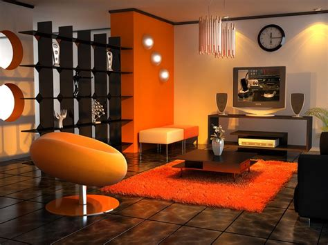 Orange Living Room Accessories by Living Room Black Orange Tangerine Decor
