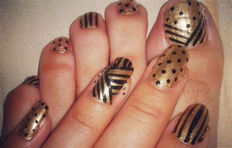 imagenes de uñas negras con dorado u 241 as decoradas color dorado u 241 as decoradas club
