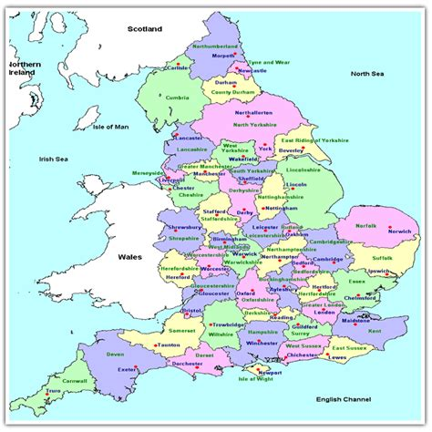 map of major cities in uk map of united kingdom with major cities counties map of