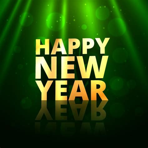 happy new year in font happy new year golden text in greeting bokeh background