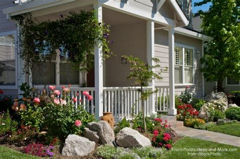 Front Porch Garden Ideas Landscaping With Rocks Around Your Porch