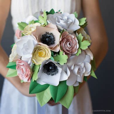 paper flower bouquet pattern patterns and tutorials to make paper wedding flowers at home
