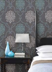 Bedroom Feature Wall Wallpaper Ideas Turquoise Blue And With Bedroom Decor Idea With A Feature