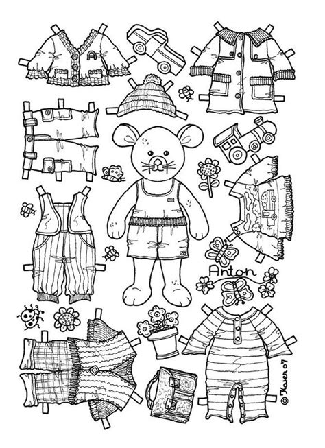 boy doll coloring page boy bear mouse paper doll coloring page coloring pages