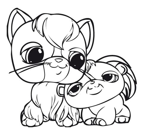 littlest pet shop color pages printable kids colouring pages