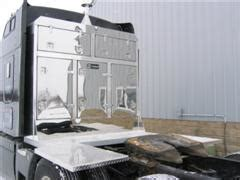 semi truck cabinet  drom deck  stainless wrapped
