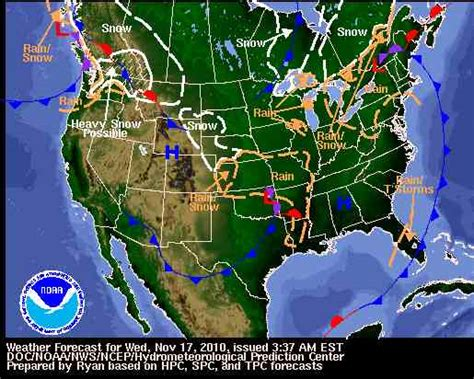 usa national weather map united states weather map symbols