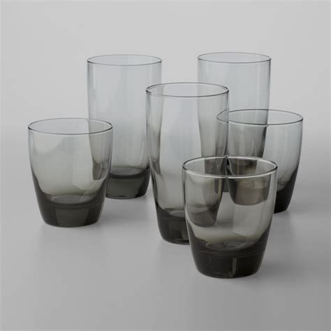 Glassware Set Libbey Classic Smoke 16 Glassware Set