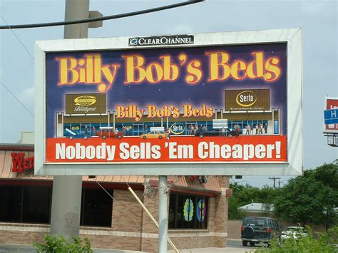 billy bobs beds bob project signs texas