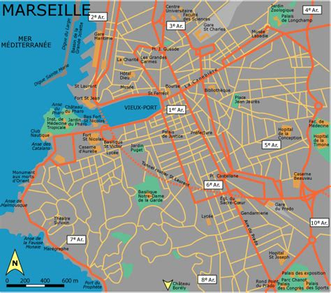 map of marseille maps of marseille