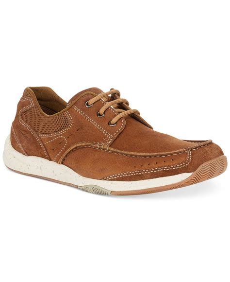 clarks boat shoes clarks s allston edge boat shoes in brown for lyst