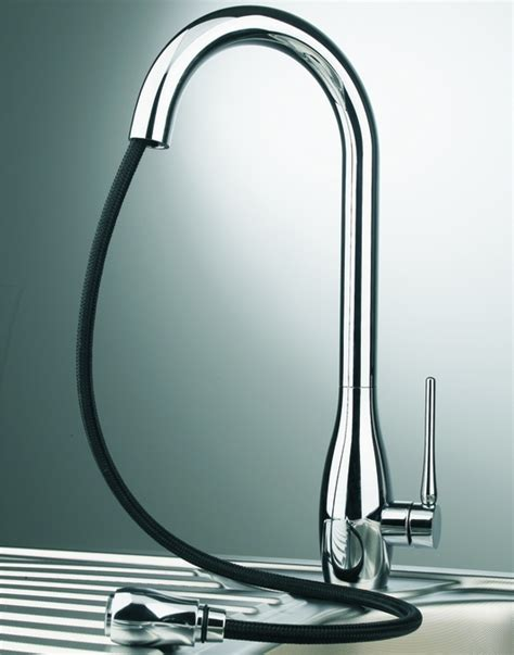 chrome modern kitchen faucet with pull out dual shower modern kitchen faucet with pull out dual shower