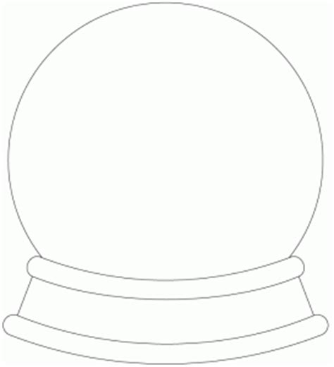 snow globe card template free digital sts