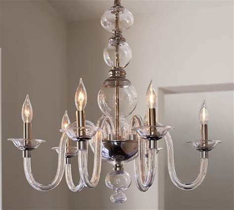 glass for chandelier blown glass chandelier pottery barn