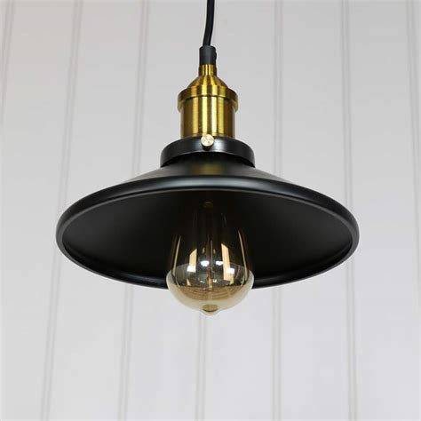 Retro Style Pendant Lighting Black Retro Industrial Style Pendant Light Fitting Melody Maison 174