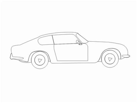 simple car template car outlines template