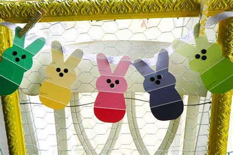 pbs crafts paint chip easter bunnies