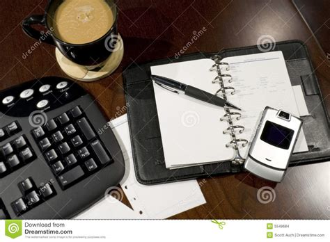 Office Desk Tools Organized Office Desk Stock Images Image 5549684