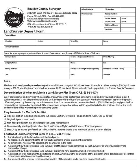 land survey report template 44 sle survey forms in pdf sle templates