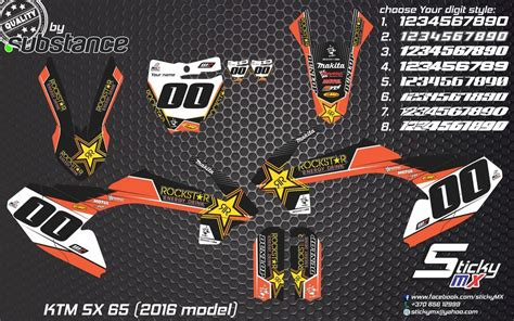 Ktm Decals Uk Ktm Sx 65 2016 Graphics Motocross Graphic Kit Decals Mx