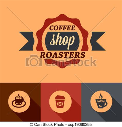 design elements of a coffee shop vector of flat coffee shop design elements illustration