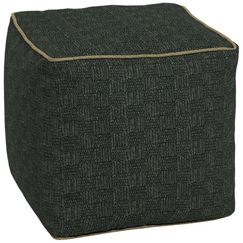 Bombay Outdoors Tangier Stitch Square Outdoor Pouf Ottoman