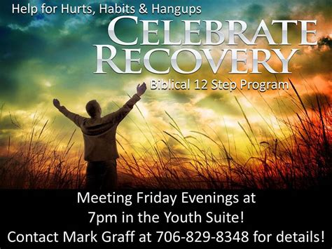 celebrate recovery grace baptist church evans