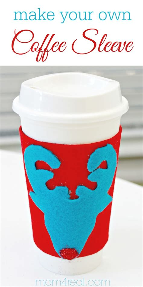 Build Your Own Sleeve Rudolph Coffee Cup Sweater And An Ugly Sweater Party Mom