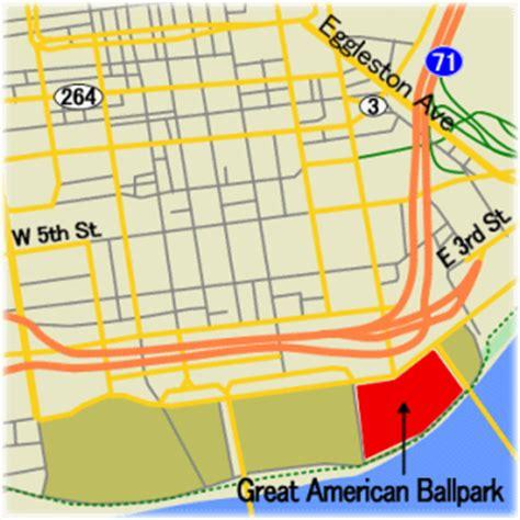 great american ballpark map mlb friends メジャーリーグ ボールパークガイド