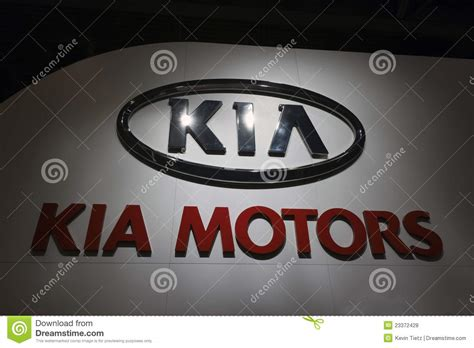 Kia Sign Kia Logo Sign Editorial Stock Photo Image 23372428