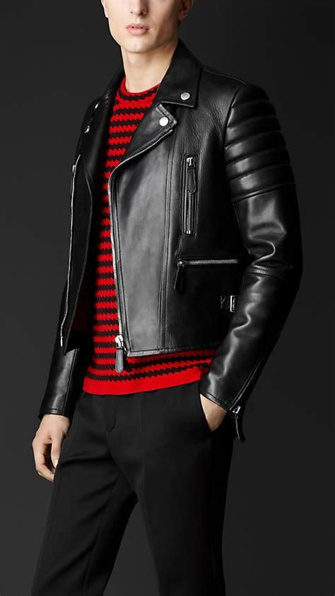 Burberry Style Leather leather biker jacket a classic mensfashion mensstyle