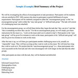 Word Project Report Template by Sle Project Summary Template 8 Free Documents In Pdf