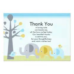 elephant baby shower thank you card 5 quot x 7 quot invitation card zazzle