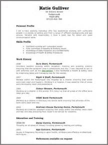 Example Resume Template Layout by Resume 2016 Cv Layout Template