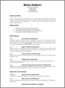 resume templates uk - Resume Builderorg