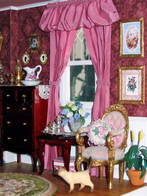dollhouse bedroom blukatkraft victorian dollhouse bedroom and bathroom 1