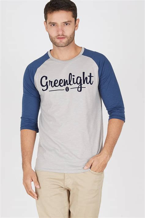 Kaos Reglan 3 4 Green Light A 0548 sell greenlight bassic reglan 208031712 tees