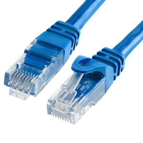 Patch Cord Utp Cat 5e 10 Meter Warna Biru T3010 4 500 mhz utp cat 6 blue ethernet molded strain relief cable 10 ft