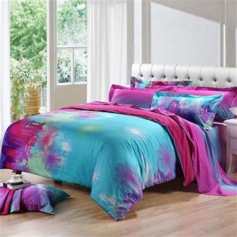 purple pink and blue bedroom sky blue purple and hot pink taraxacum dandelion print