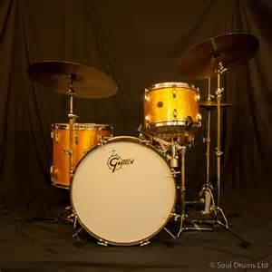 gold drum sold gretsch 60 s round badge gold sparkle drum set