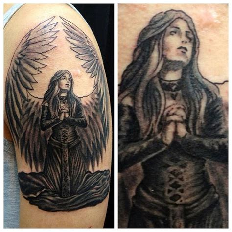 kneeling angel tattoo praying images designs