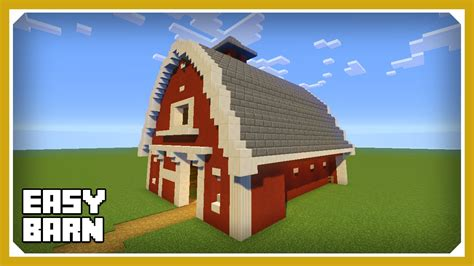 scheune in minecraft minecraft how to build a barn house tutorial easy