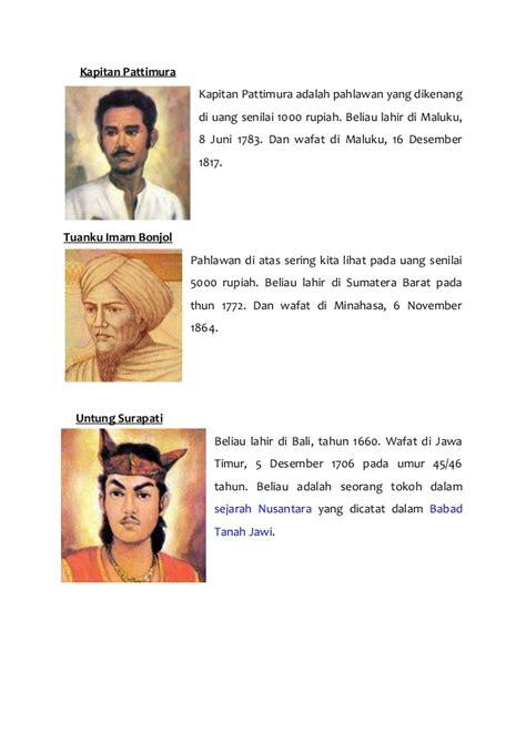 biografi kapitan pattimura dalam bahasa jawa pahlawan pahlawan indonesia 2